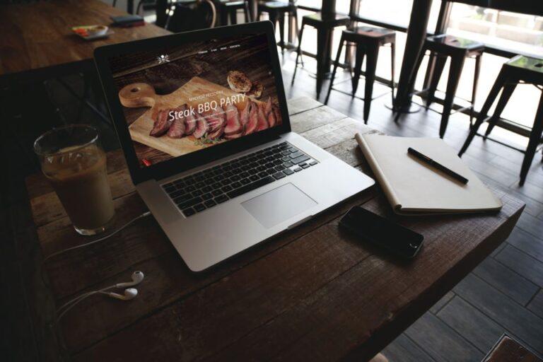 Сайт визитка для ресторана или кафе