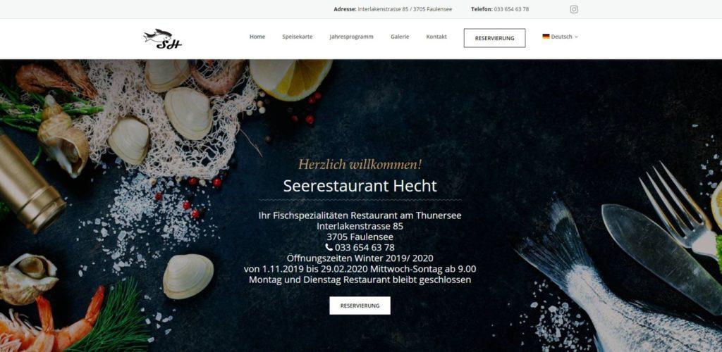 Заказать сайт ресторан