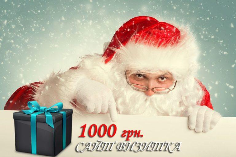 Подарок на Новый Год — сайт визитка 1000 грн.